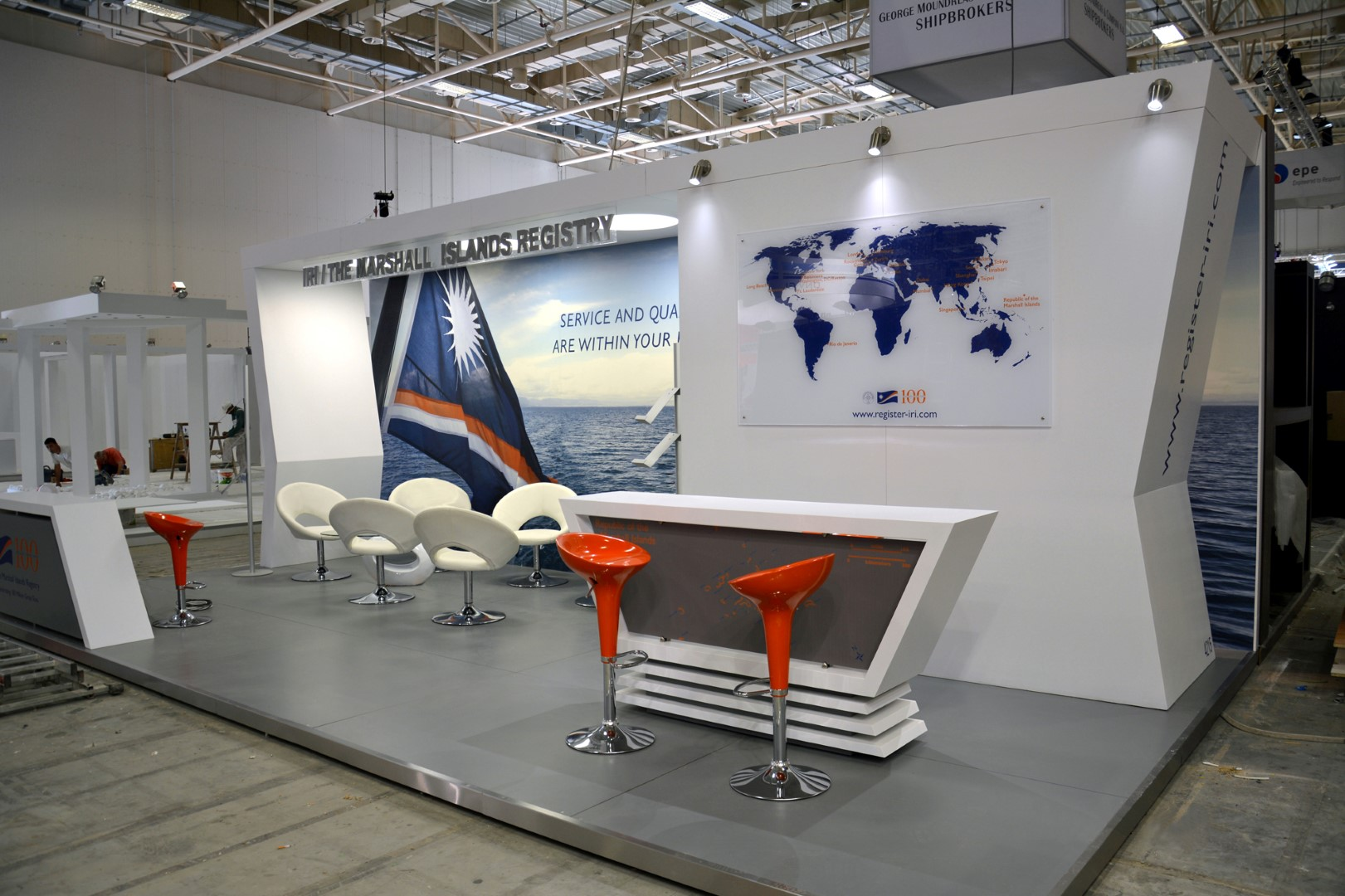Exhibition Booth Private Maritime Services Company at Metropolitan Expo