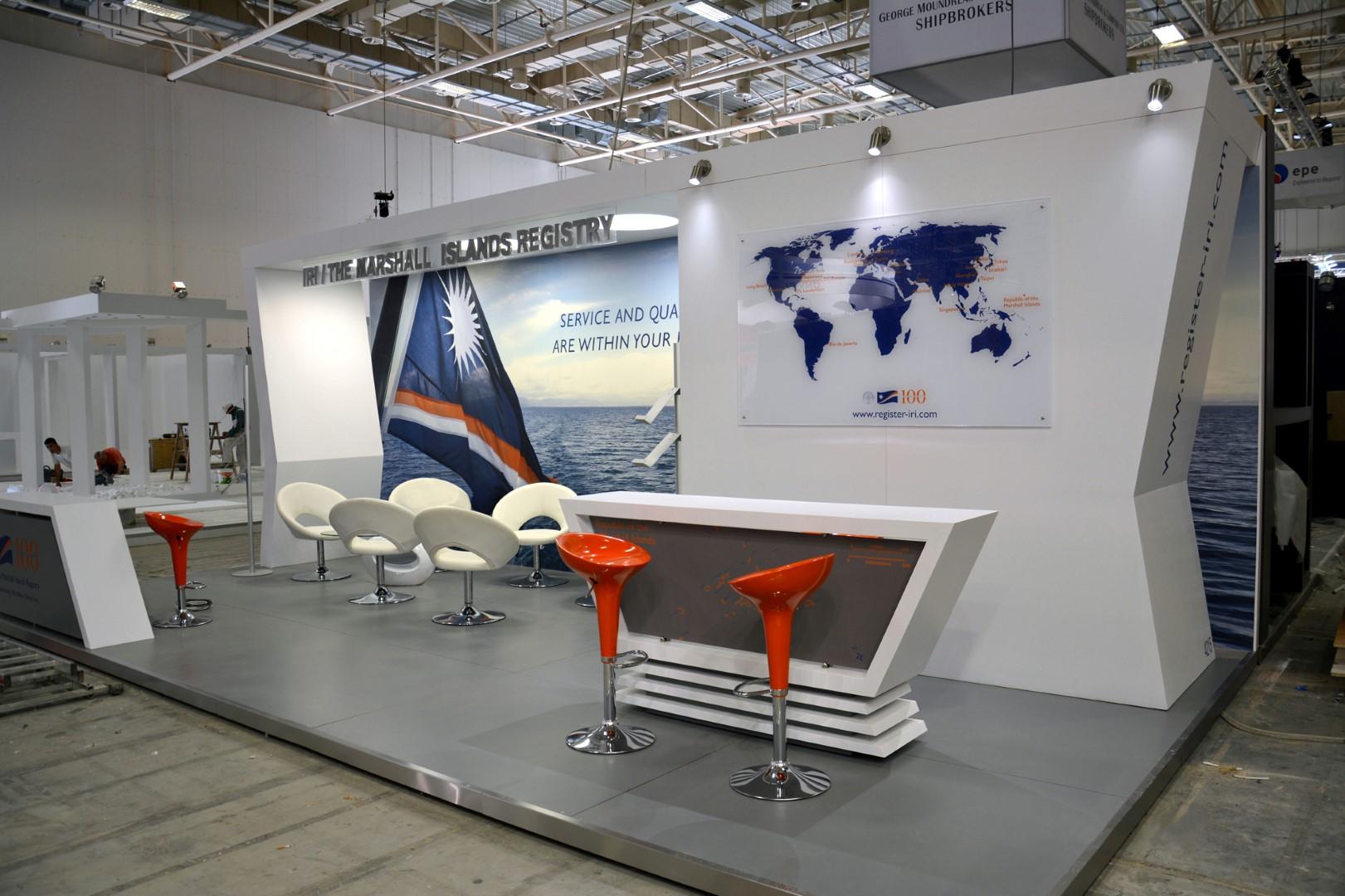 Εκθεσιακό Περίπτερο Ιδιωτική Εταιρεία Ναυτιλιακών Υπηρεσιών στο Metropolitan Expo